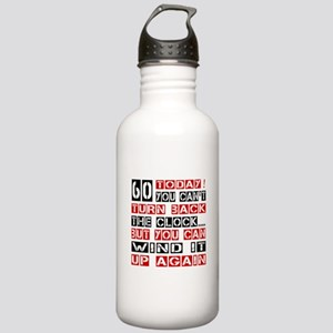 60 Turn Back Birthday Stainless Water Bottle 1.0L