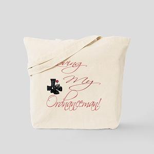 loving my Ordnanceman Tote Bag