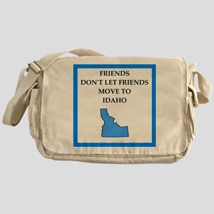 i hate this state Messenger Bag