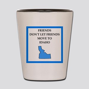 i hate this state Shot Glass