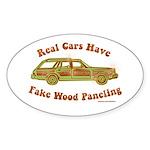 Fake wood paneling Sticker