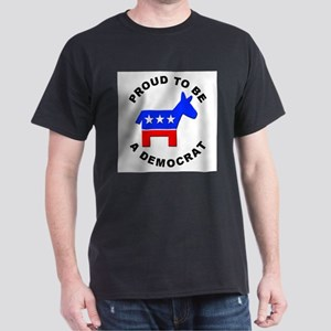 Proud Democrat Ash Grey T-Shirt