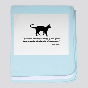 Ancient Cat Proverb baby blanket