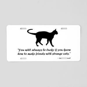 Ancient Cat Proverb Aluminum License Plate