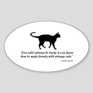 Ancient Cat Proverb Sticker