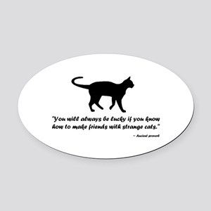 Ancient Cat Proverb Oval Car Magnet