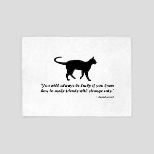 Ancient Cat Proverb 5'x7'Area Rug
