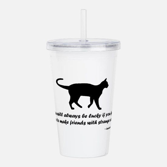Ancient Cat Proverb Acrylic Double-wall Tumbler
