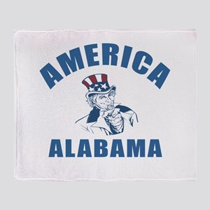 America State Alabama Designs Throw Blanket