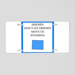 wyoming Aluminum License Plate