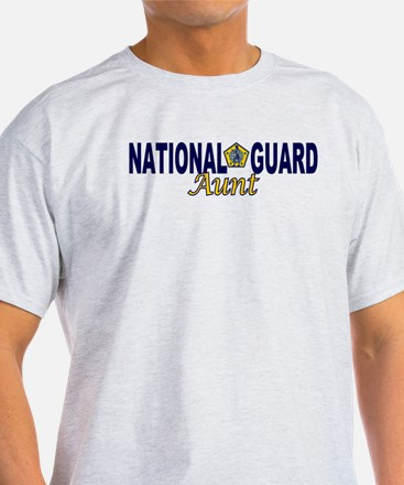 National Guard Aunt White T-Shirt