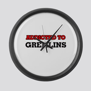 Addicted to Gremlins Large Wall Clock