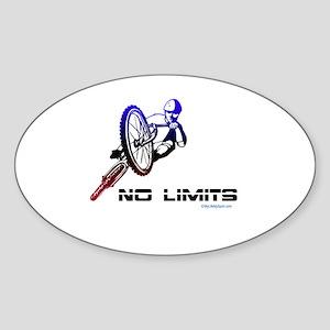 NO LIMITS Oval Sticker