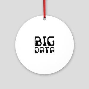 Big Data Scientist Round Ornament