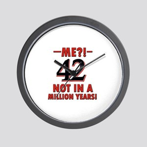 42 Not in A Million Years Wall Clock