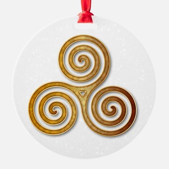 Celtic Triple Spiral in Citrine & G Ornament