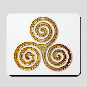 Celtic Triple Spiral in Citrine & Gold Mousepad
