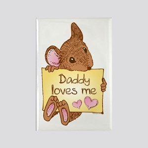 Mouse Love Dad Rectangle Magnet