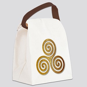 Celtic Triple Spiral in Citrine & Canvas Lunch Bag