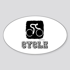 CYCLE Oval Sticker