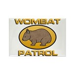 Wombat Patrol Rectangle Magnet (100 pack)