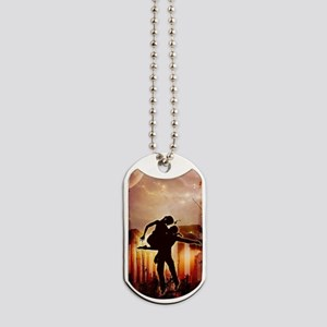 Wonderful dancing couple in the night Dog Tags