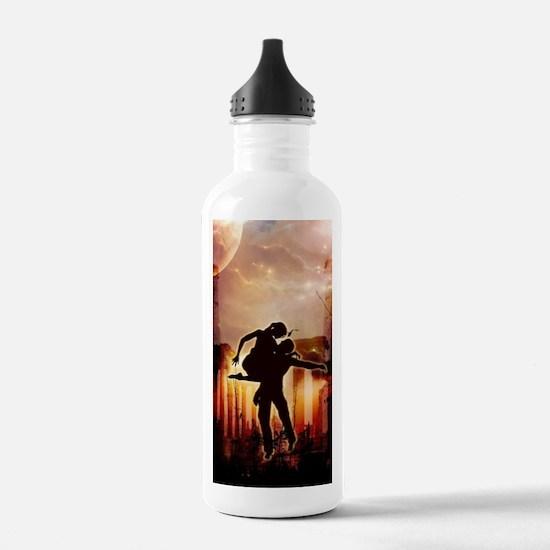 Wonderful dancing couple in the night Water Bottle