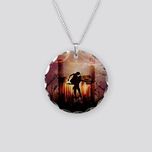 Wonderful dancing couple in the night Necklace