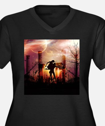 Wonderful dancing couple in the night Plus Size T-