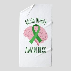 Brain Injury Awareness Beach Towel