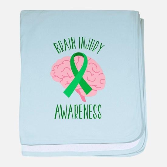 Brain Injury Awareness baby blanket