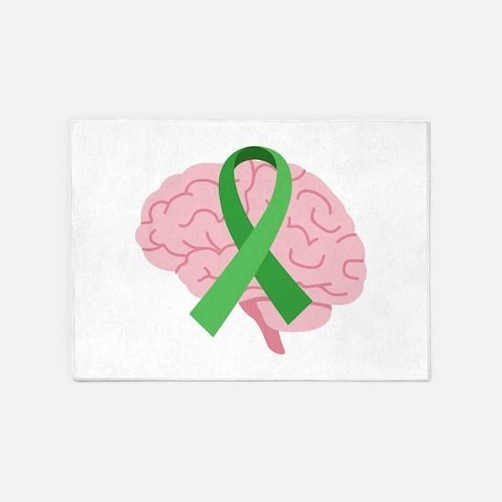 Brain Injury Awareness 5'x7'Area Rug