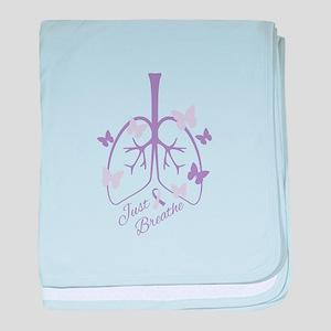 Just Breathe baby blanket