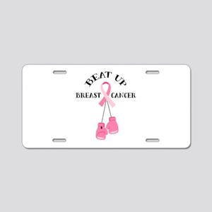 Beat Breast Cancer Aluminum License Plate