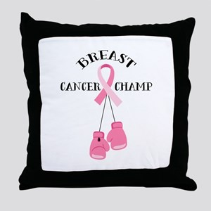 Breast Cancer Champ Throw Pillow
