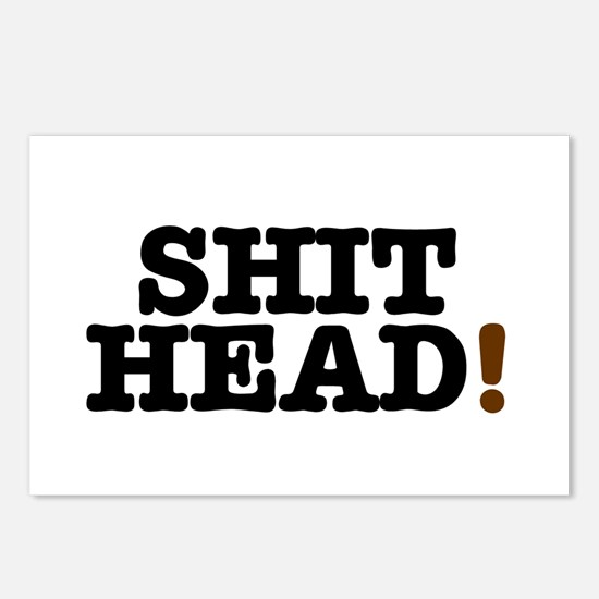 SHIT HEAD! Postcards (Package of 8)