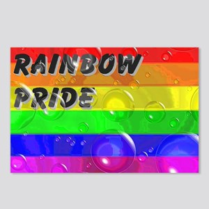 BUBBLED RAINBOW PRIDE FLAG Postcards (Package of 8