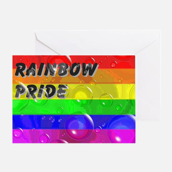 BUBBLED RAINBOW PRIDE FLAG Greeting Card