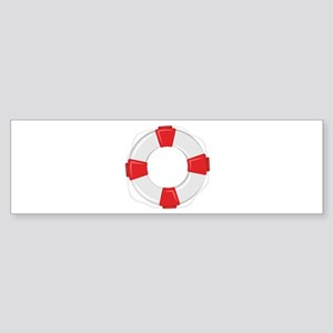 Life Preserver Bumper Sticker