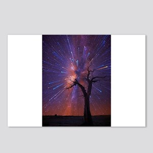 Fireworks and tree Postcards (Package of 8)