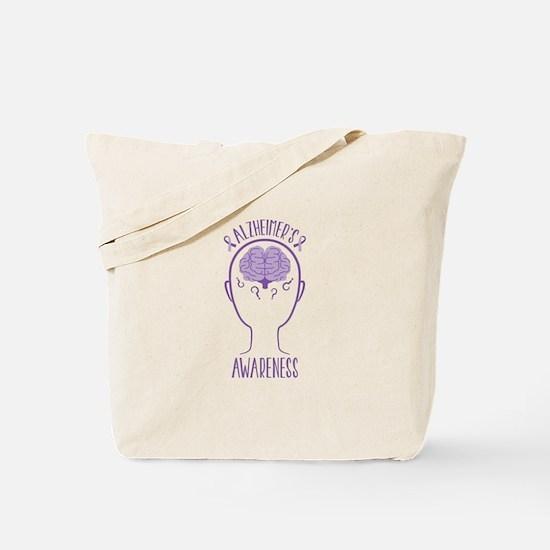 Alzheimers Awareness Tote Bag