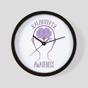 Alzheimers Awareness Wall Clock