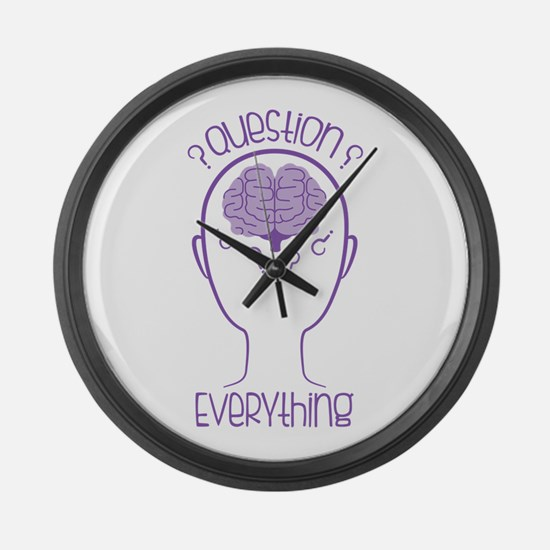 Question Everything Large Wall Clock