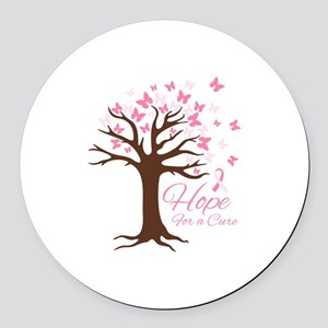 Hope For Cure Round Car Magnet