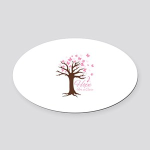 Hope For Cure Oval Car Magnet