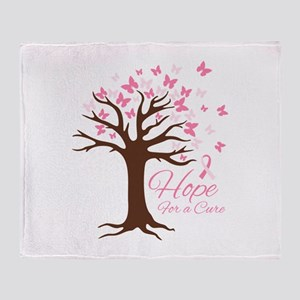 Hope For Cure Throw Blanket