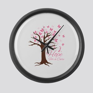 Hope For Cure Large Wall Clock