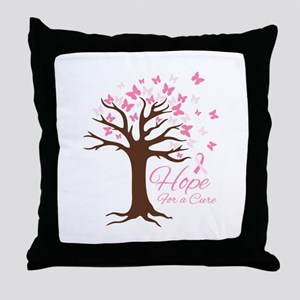 Hope For Cure Throw Pillow