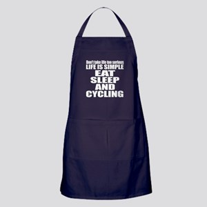 Life Is Eat Sleep And Cycling Apron (dark)