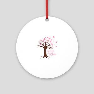 Spread Love Round Ornament